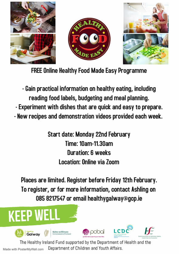 Free Online Healthy Food Made Easy Programme