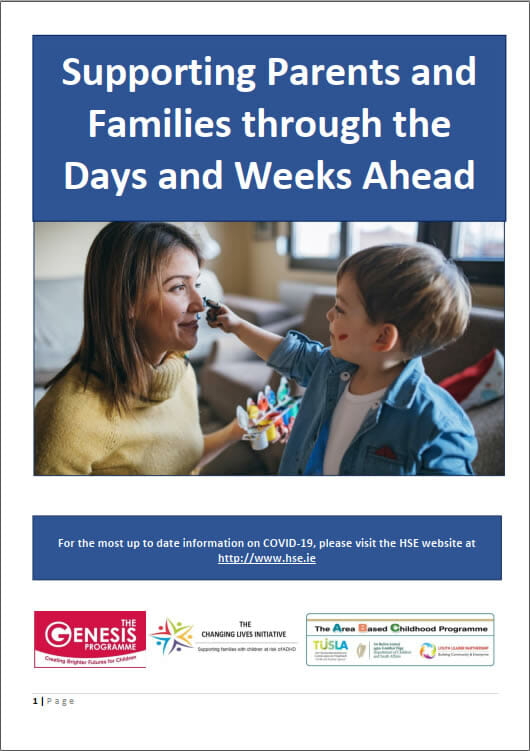 Supporting Parents and Families through the Days and Weeks Ahead