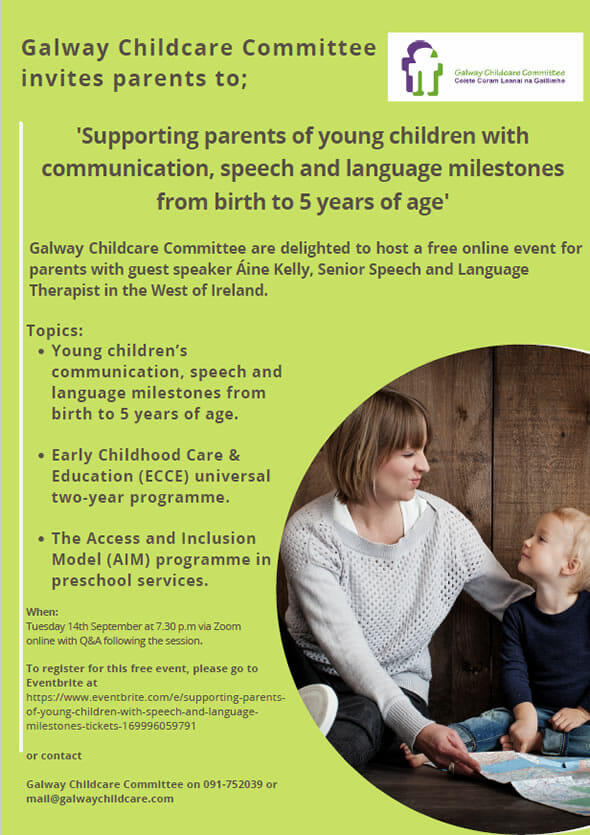 Supporting Parents of Children with Communication, Speech and Language Milestones from Birth to 5 years of age