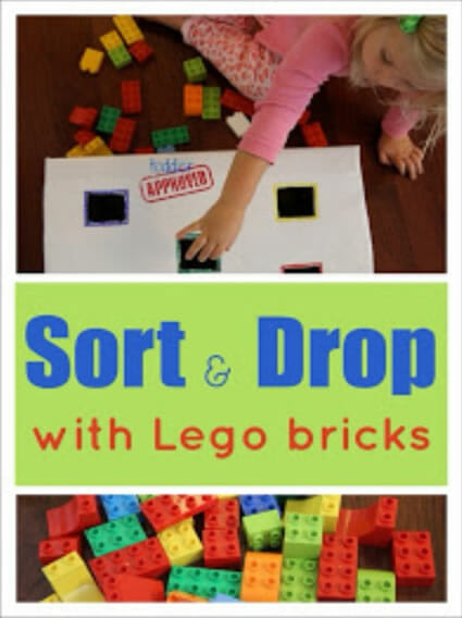 Sort and Drop with Lego Bricks