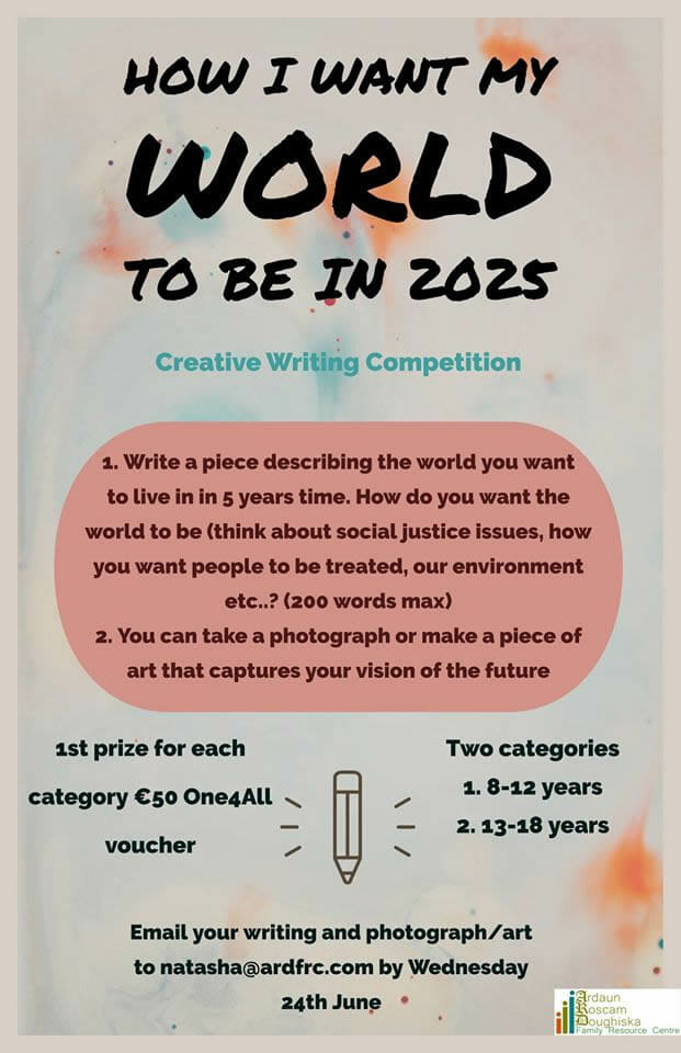 Creative Writing Competition for ages 8-18