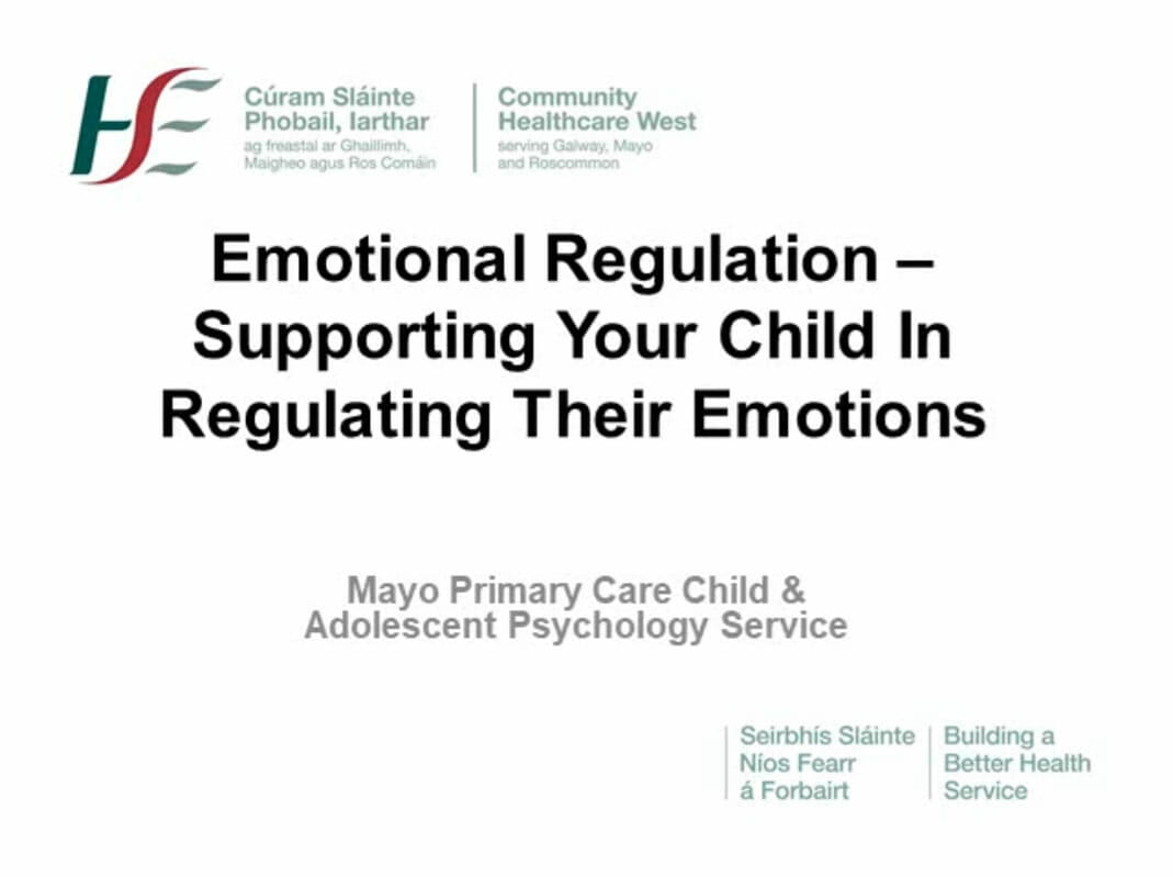 Emotional Regulation - Supporting Your Child